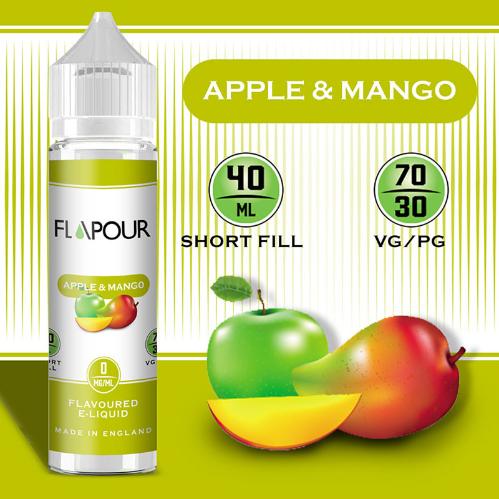 Flapour Apple and Mango E-Liquids, Shortfill, MTL Shortfills