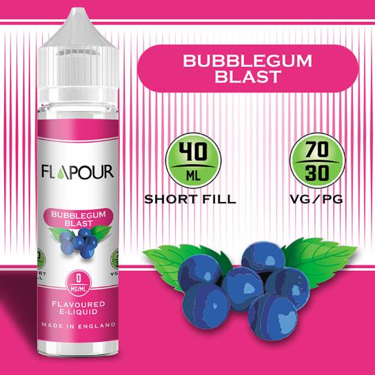 Flapour Bubblegum Blast, E-Liquids, Shortfill, MTL Shortfills