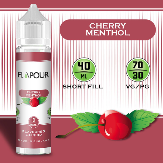 Flapour Cherry Menthol E-Liquids, Shortfill, MTL Shortfills