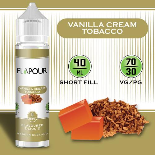 Flapour Vanilla Tobacco E-Liquids, Shortfill, MTL Shortfills