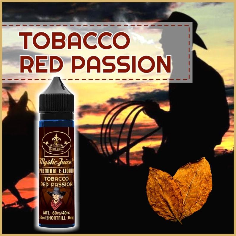 Mystic Juice Tobacco Red Passion E-Liquids, Shortfill, MTL Shortfills