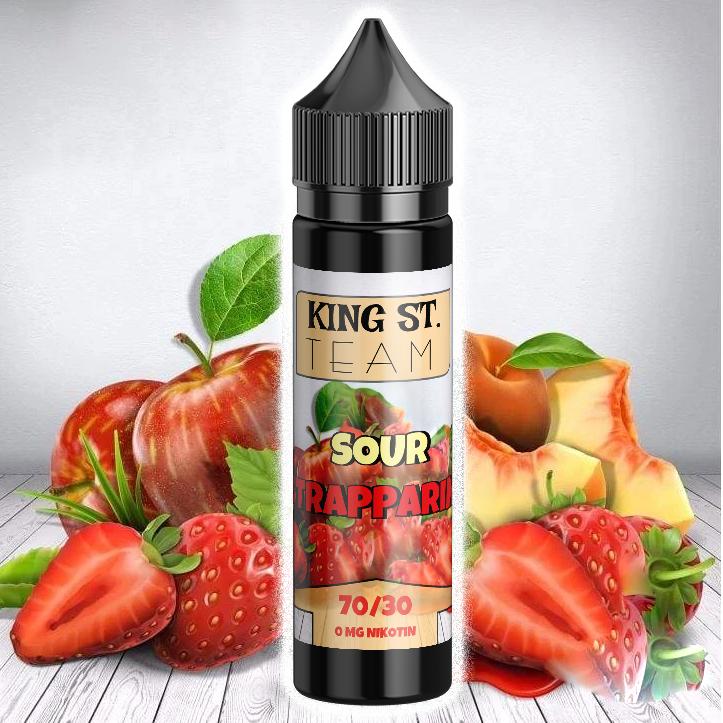 KING ST. Team Sour Strapparine, E-Liquids, Shortfill