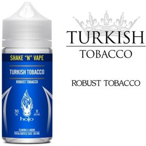 Halo Turkish Tobacco 0mg nicotine Shortfill