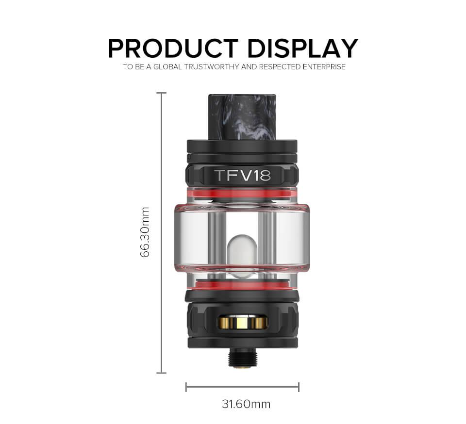 SMOK TFV18 Sub Ohm Tank 7.5ml size