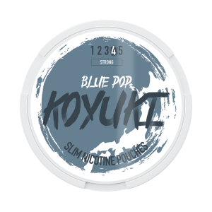 KOYUKI's All White - Nicotine Pouches - BLUE POP tobacco free snus