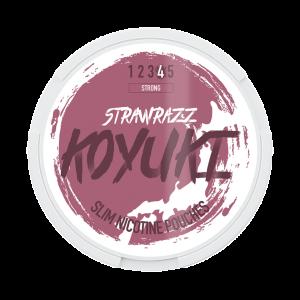 KOYUKI's All White Nicotine Pouches - STRAWRAZZ (Strong) tobacco free snus